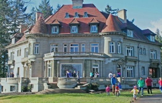 """Overlooking the city's skyline, rivers, and mountain peaks, Pittock Mansion is the perfect place to explore Portland's transformation from a  small """"stumptown"""" to a bustling city. With amazing architecture, stunning views, and progressive innovations from 1914, this favorite landmark is worth sharing as it turns 100."""