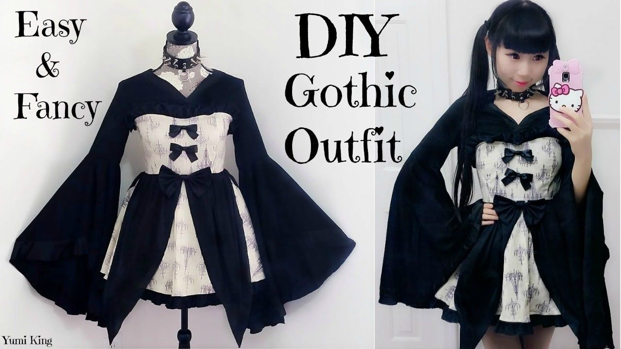 536c94e22e DIY Easy   Fancy Gothic Outfit Dress + Back to School Outfits review ...