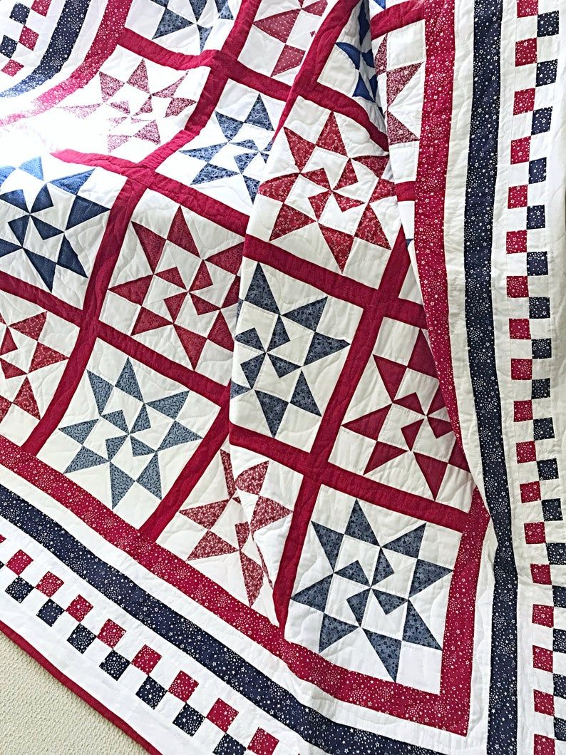 Star Quilt Patterns Pdf Christmas Quilt Pattern Red And White