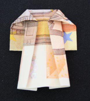 Geldschein Mantel falten | Geschenke, Geld falten kleidung