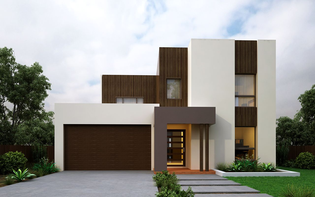 Double storey house design the 39 addison 37 39 with modern for The addison house