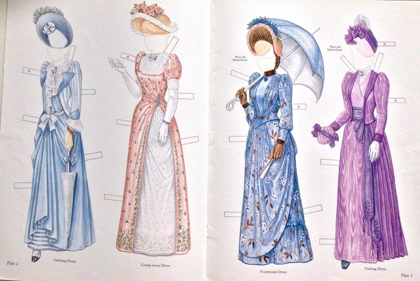 Victorian Bride Her Trousseau Paper Doll Book 2005 8 Pages Uncut   eBay
