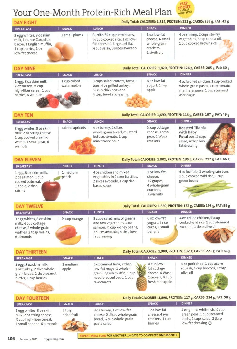 One-Month Protein-Rich Meal Plan - Week 2 | Fitness treats