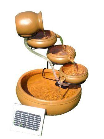 Amazon com: Kyoto Solar Cascading Fountain Kit: Patio, Lawn & Garden