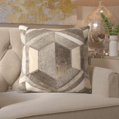 House of Hampton Woodstock Leather Throw Pillow
