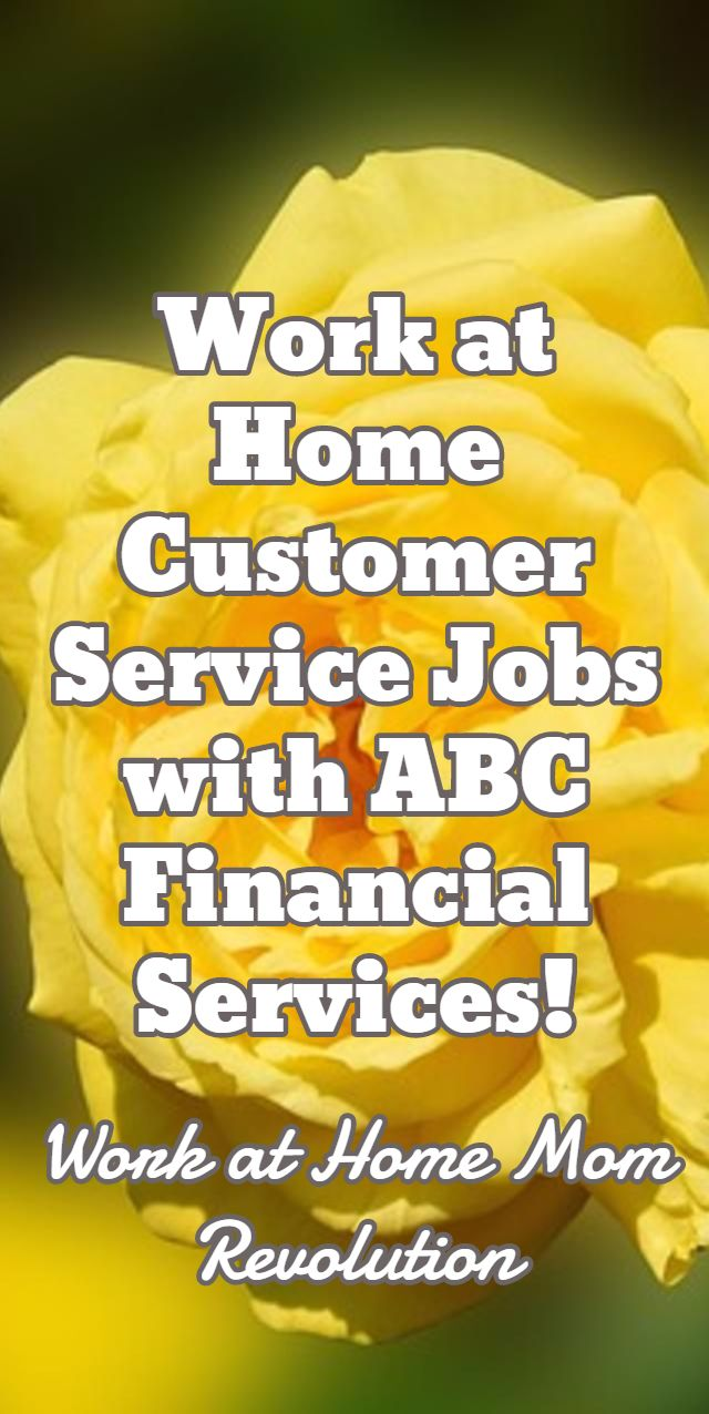 HomeBased Customer Service Jobs with ABC Financial