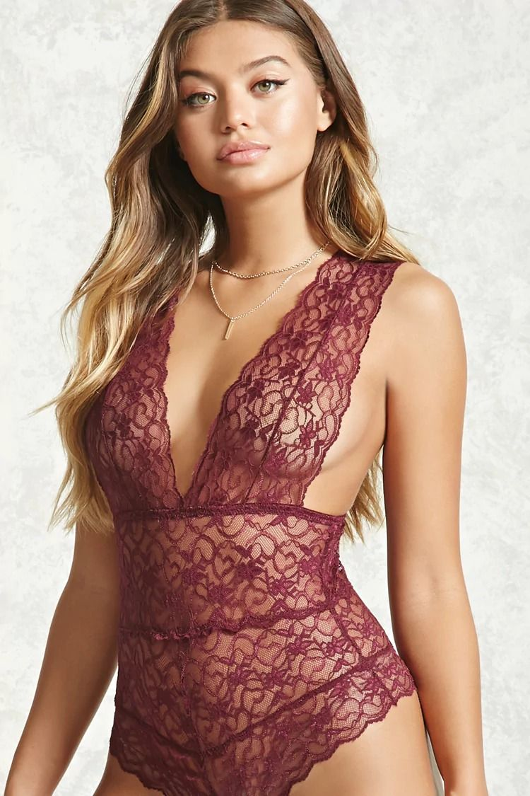 7383ca0f5c Sheer Lace Bodysuit