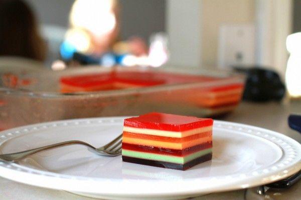 How To Make 7 Layer Jello Layered Jello Jelly Recipes Desserts Jello Recipes