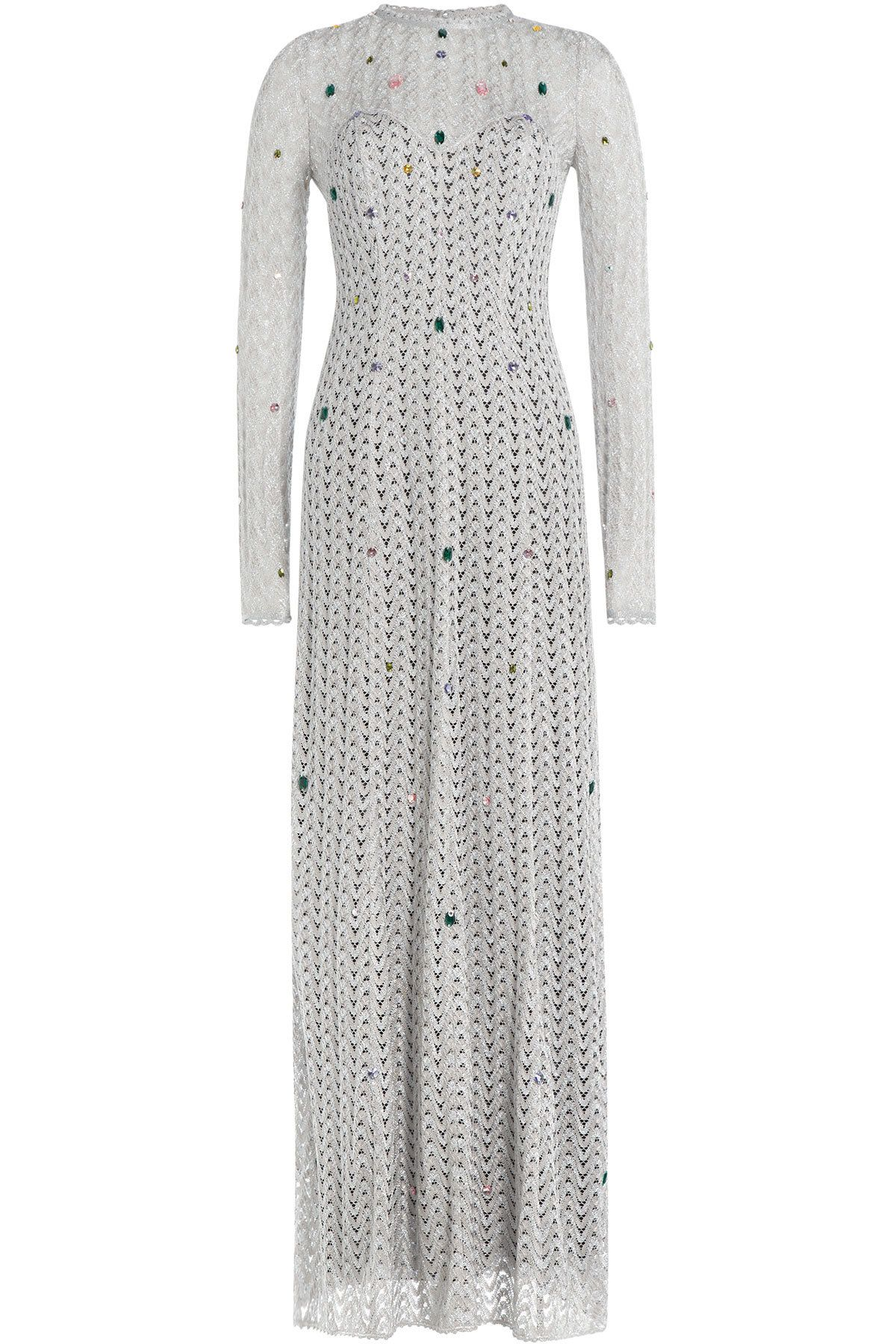 Missoni - Embellished Floor Length Crochet Knit Gown | Women\'s ...