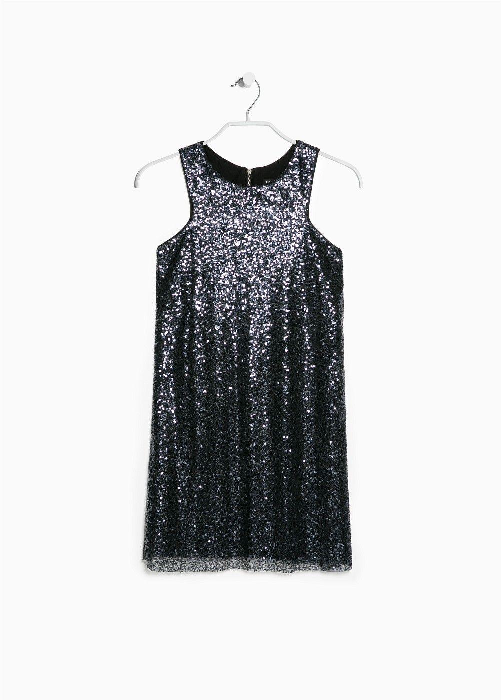 Sequined shift dress - Dresses for Women | MANGO