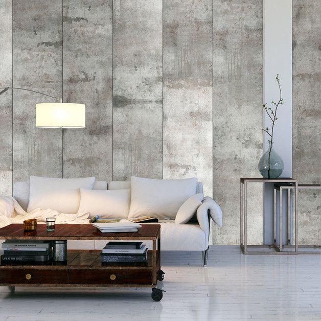 puro tapete 10m beton f-a-0050-j-a | fototapete, tapeten und dawanda, Wohnzimmer