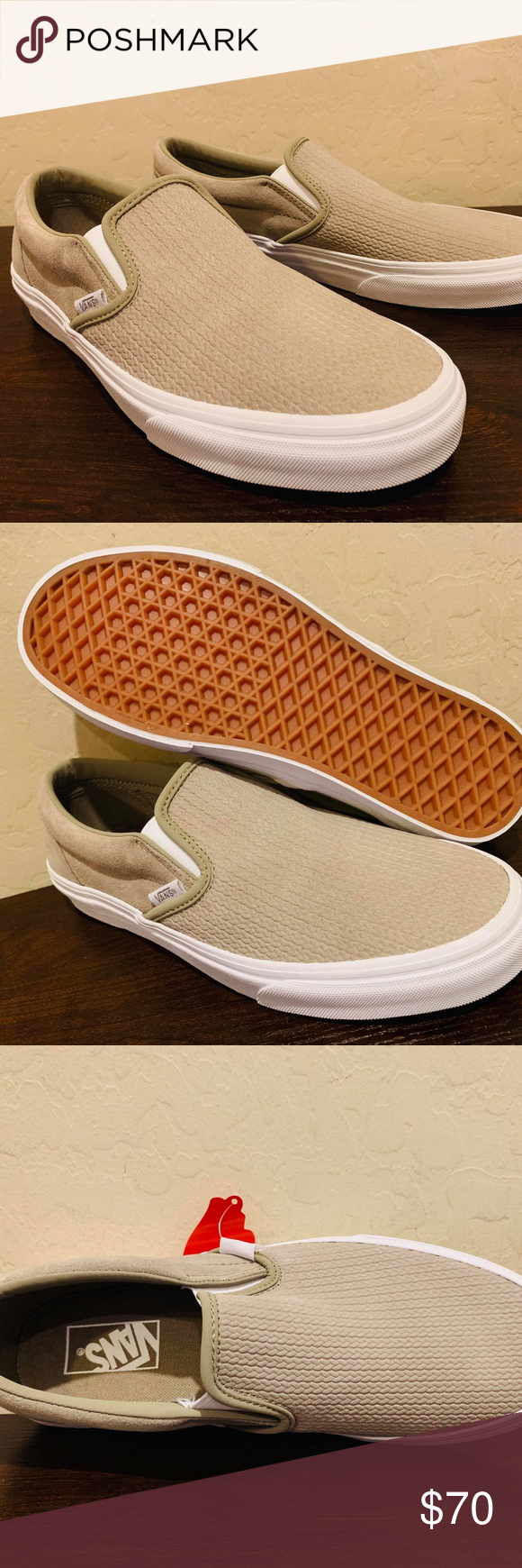 ae6d7873af8 Vans Women s Classic Slip-On Embossed Suede NEW AUTHENTIC Vans Classic Slip  On Shoes WOMEN S