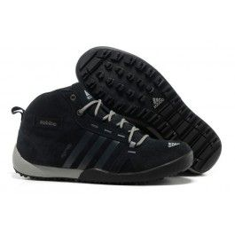 Billige Adidas Daroga Two Læder Mid Mørkgrå Sort Herre Skobutik   Fantastisk Adidas Daroga Two Læder Mid Skobutik   Adidas Skobutik Online   denmarksko.com