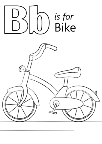 Letter B Is For Bike Coloring Page From Letter B Category Select From 26388 Printable Craft Preschool Coloring Pages Letter B Coloring Pages Preschool Letters