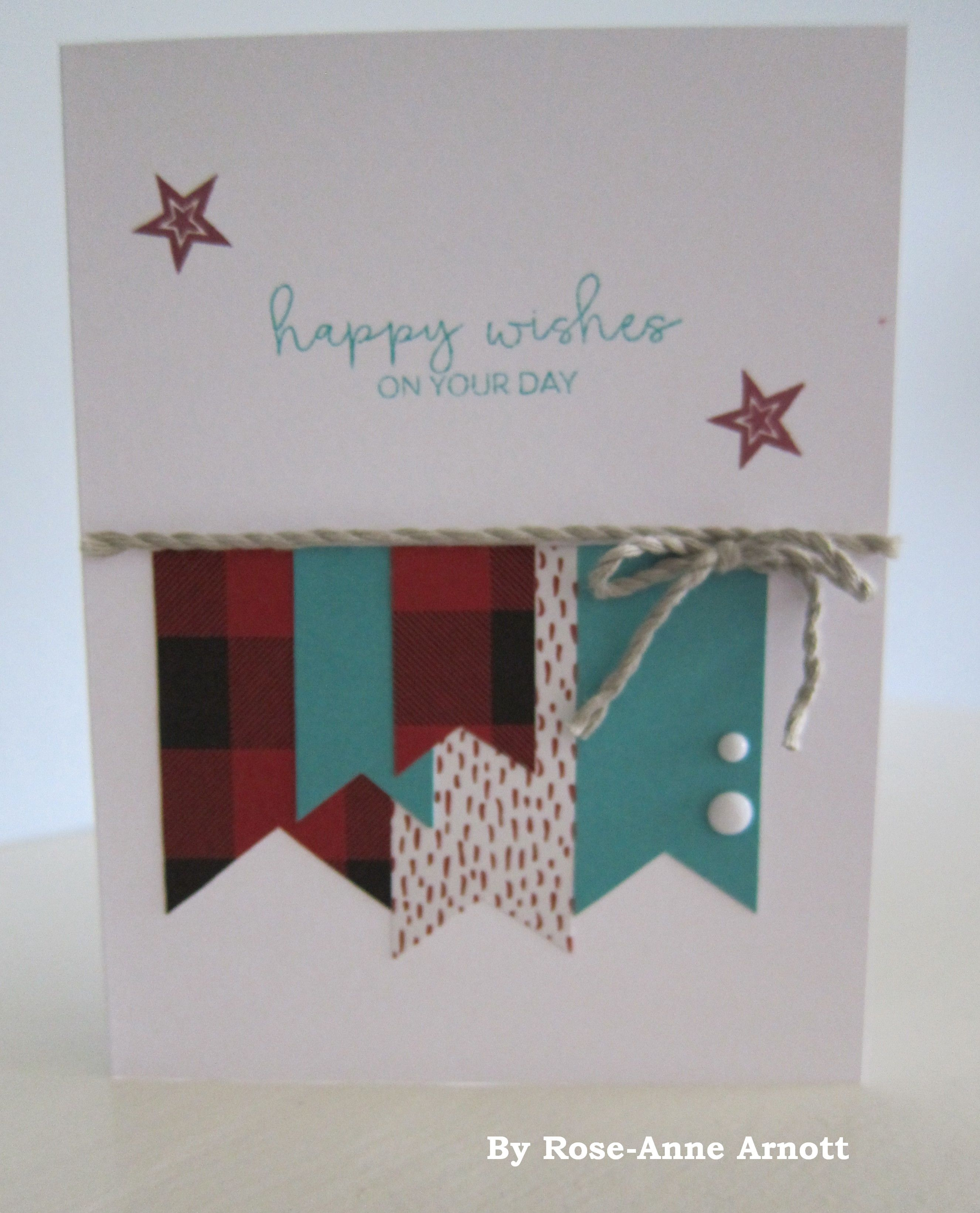 HANDMADE CARD Jack Paper Fathers Day Cardmaking Kit I Changed It To A Birthday Card