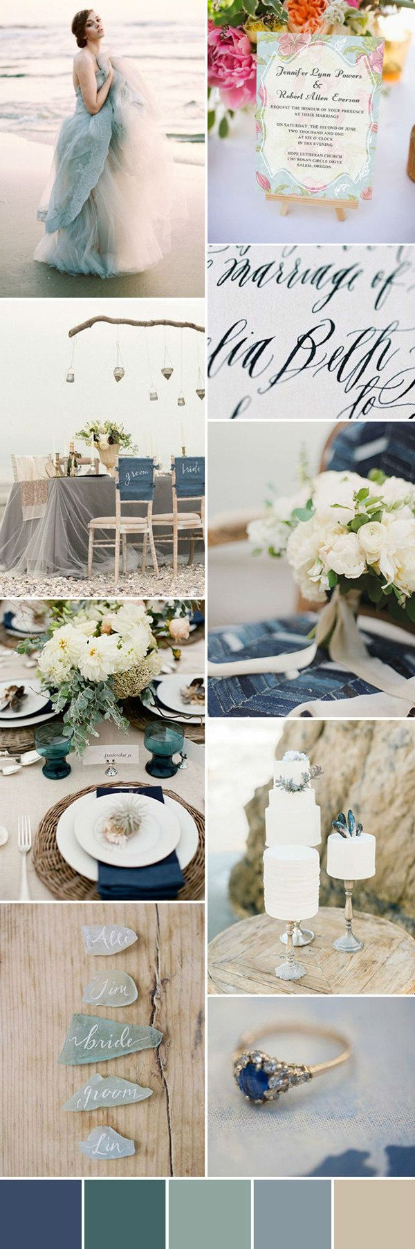 seven wonderful wedding color ideas in shades of pink | Beach ...