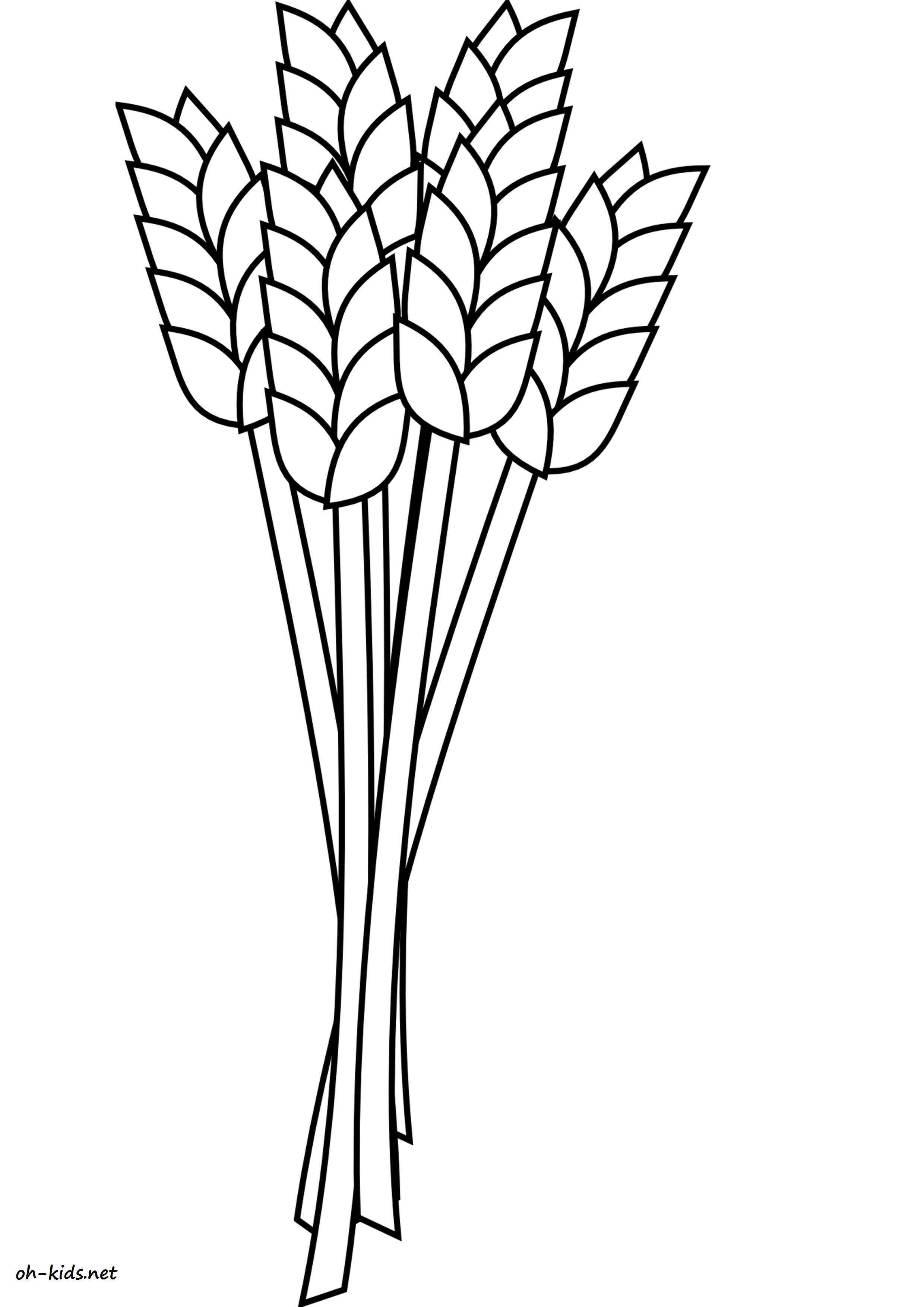 La Poste Le Poiré Sur Vie blé coloriage