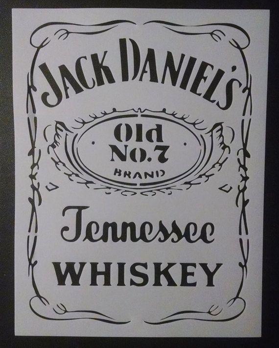 Jack Daniels Danielu0027s Traditional #2 Custom Stencil FAST FREE - create a wanted poster free