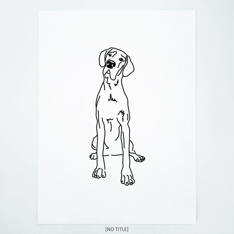 Great Dane Line Art Minimalist Wall Art Drawing Dogs Etsy Line Art Drawings Line Artwork Line Art