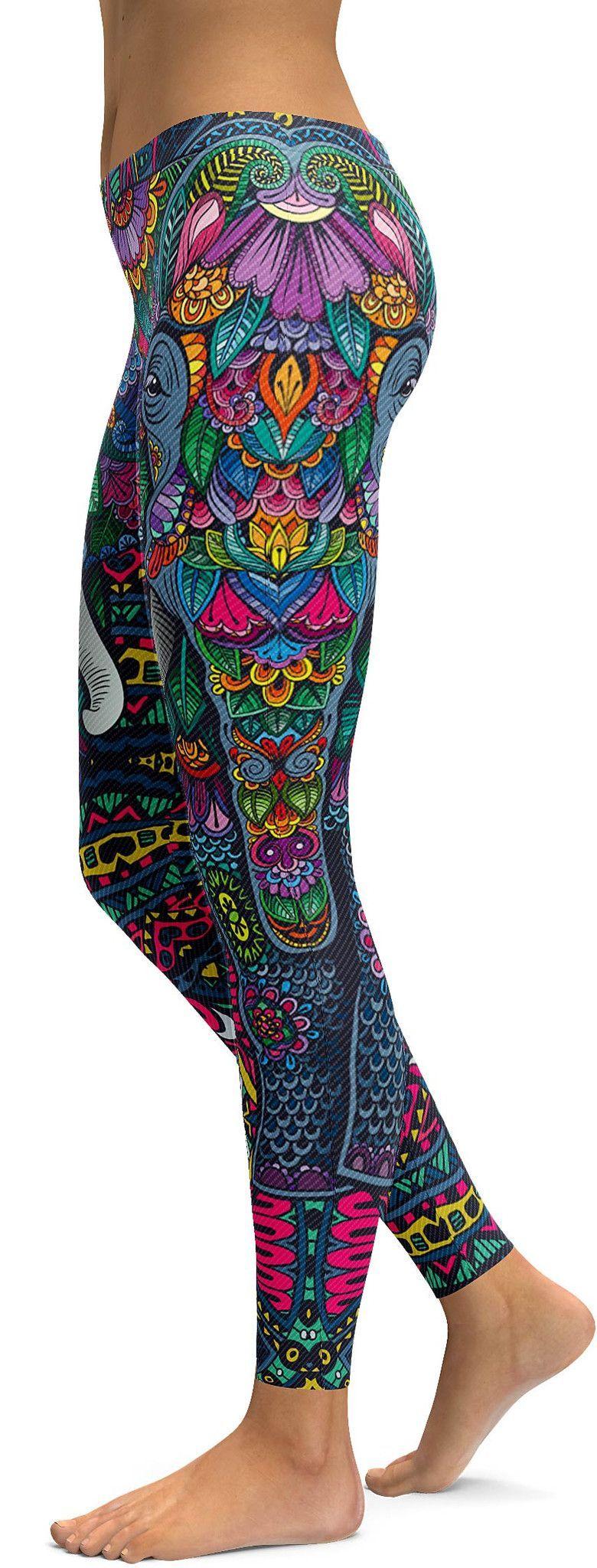 Colorful Elephant Leggings Ropa Para Gimnasio 0a73e3eafaf1