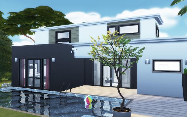 Villa de luxe Sims 4 avec piscine | Sims 4 houses, Sims ...