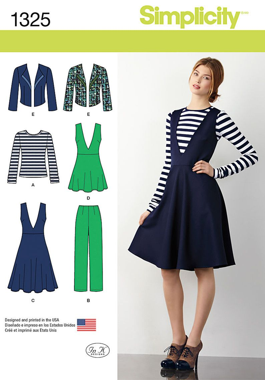 S1325 Misses\' Pants, Jumper or Tunic, Jacket & Top | dress ...