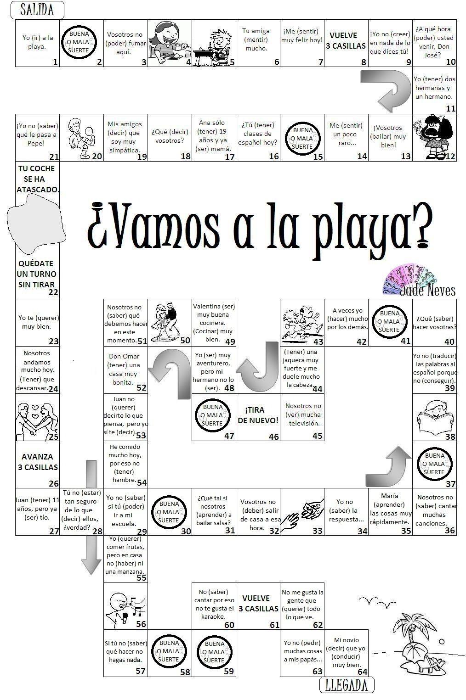 Juego Vamos A La Playa Avec Images Enseigner L Espagnol