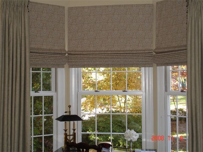 Roman Shades Shades Blinds Bay Window Blinds Flat Roman Shade