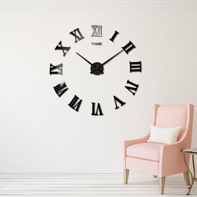 Ype Wall Clocks Weight 290g Motivity Type Digital Style Brief Diameter 120cm Material Acrylic Lengt Diy Clock Wall Wall Stickers Unique Wall Clock Modern