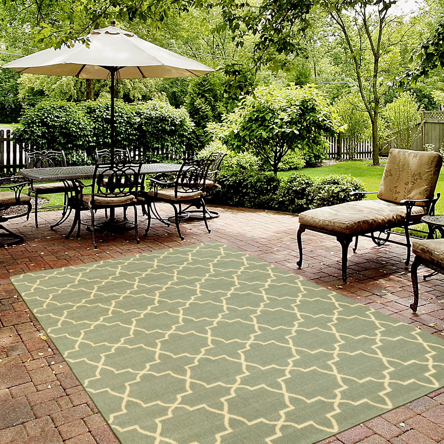 Rugs Usa Porch Outdoor Trellis Sk02 Moss Rug On Sale And