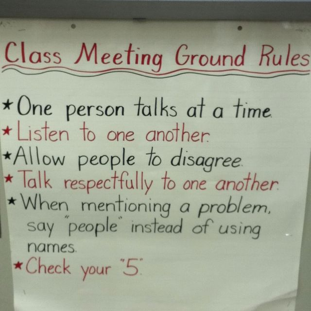 ground rules for behaviour Ground rules for behaviour essay sample supporting children's behaviour can be key to a happy caring environment write an explanation stating how ground rules for behaviour and expectations are developed and implemented.