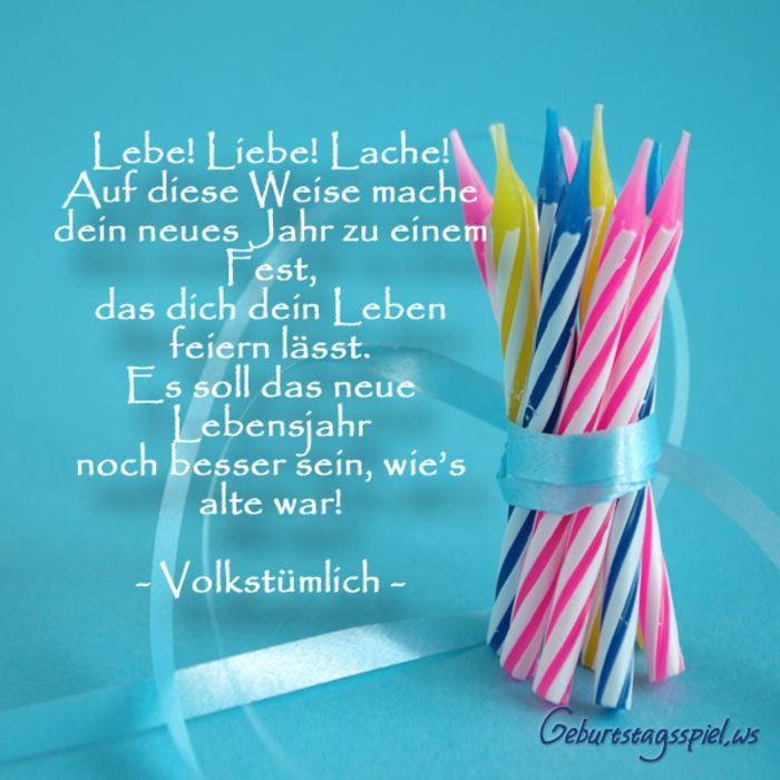 schöne Geburtstagskarte mit Glückwünschen, lebe, liebe