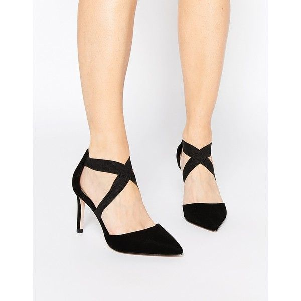 ASOS STERLING Pointed Heels ($58) ❤ liked on Polyvore featuring shoes, pumps, black, black pointy-toe pumps, pointed pumps, black pointed toe shoes, asos and kohl shoes