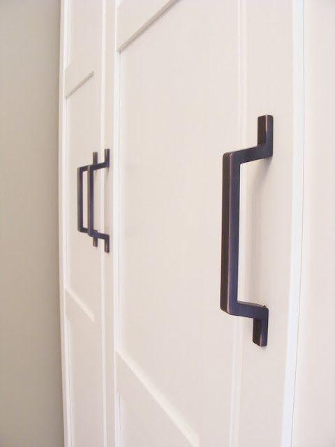 White Panelled With Black Door Handle Joinery Pinterest Hardware Black Door Handles And