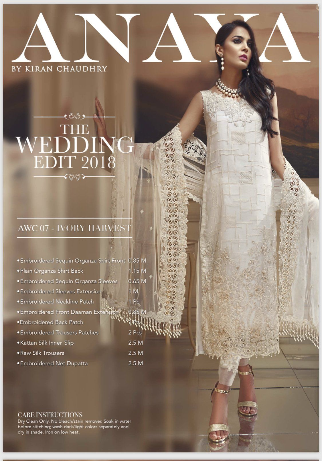 1e50114240 Anaya - Organza - Ivory Harvest - AWC 07 in 2019 | Pakistani Fashion ...