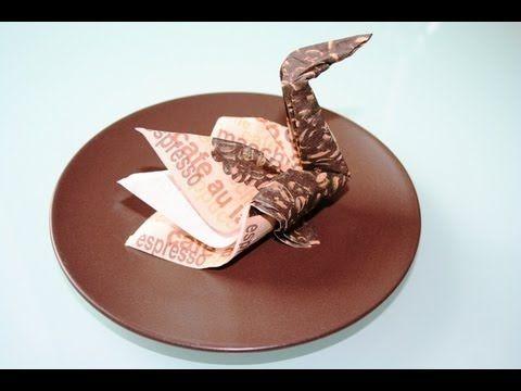 servietten falten schwan napkin folding swan hobby pinterest servilleta doblar. Black Bedroom Furniture Sets. Home Design Ideas