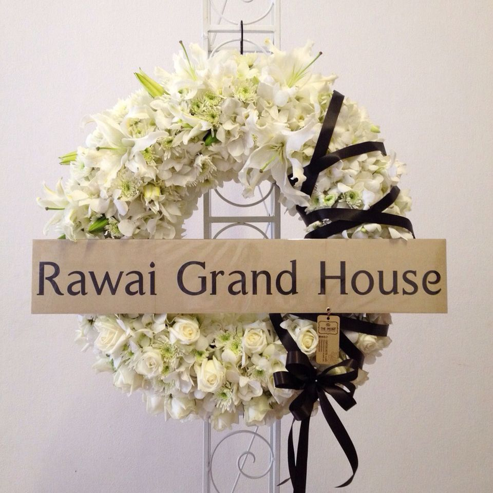 Wreath fresh flower by the peony phuket flower shop for funeral wreath fresh flower by the peony phuket flower shop for funeral dhlflorist Image collections