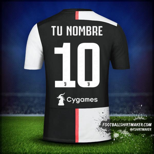 Camiseta Juventus FC 2019/20 número 10 tu nombre