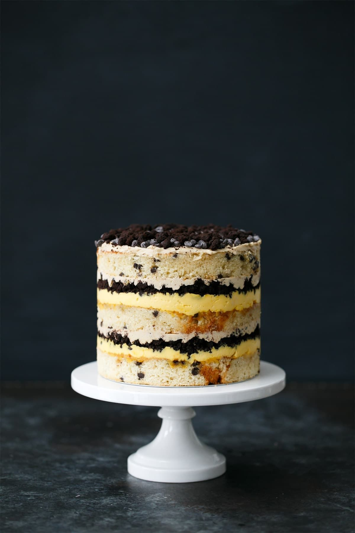 Buttermilk Chocolate Chip & Passionfruit Naked Layer Cake Recipe ...