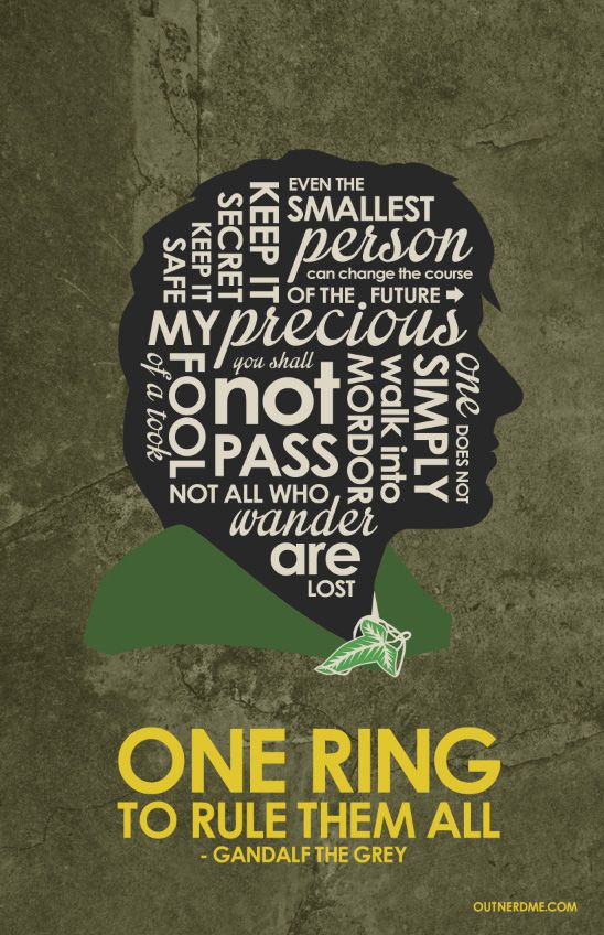 The Lord Of The Rings ~ Movie Quotes Poster By Stephen Poon #amusementphile