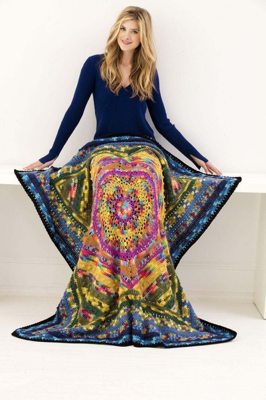 Mandala Afghan (Crochet) - free pattern download from Lion Brand ...