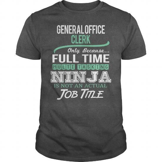 Awesome Tee For General Office Clerk #teeshirt #T-Shirts. HURRY:   => https://www.sunfrog.com/LifeStyle/Awesome-Tee-For-General-Office-Clerk-144517370-Dark-Grey-Guys.html?id=60505