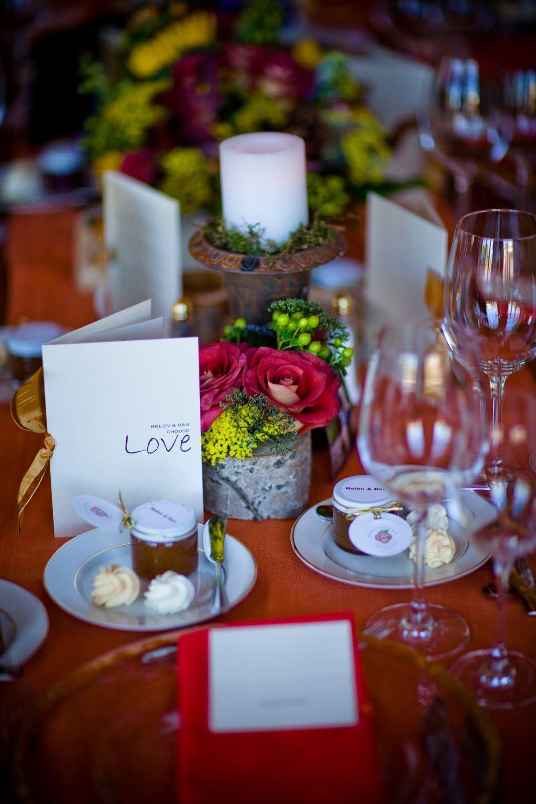 A beautiful memory real wedding helen u dan table favors