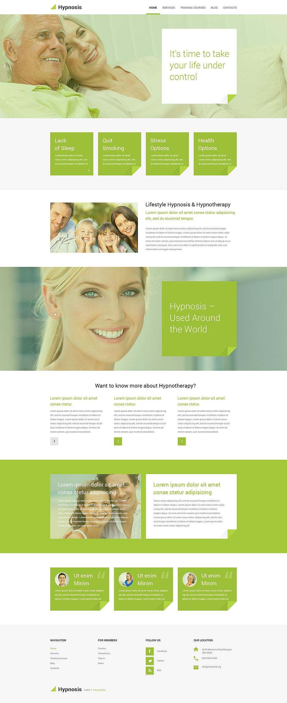 Hypnosis WordPress Theme | Webdesign inspiration und Inspiration