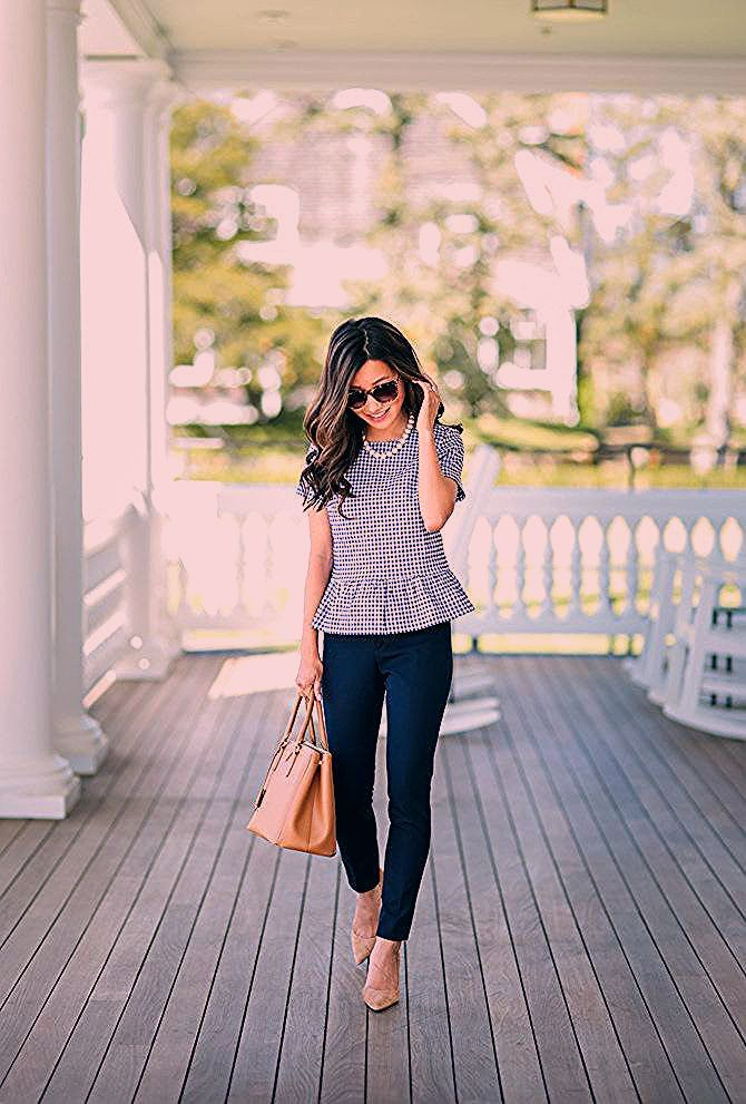 Photo of Peplum Swing Top for Work-to-Weekend Outfits