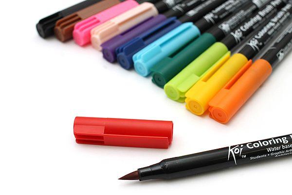 sakura koi coloring brush pen 12 color set
