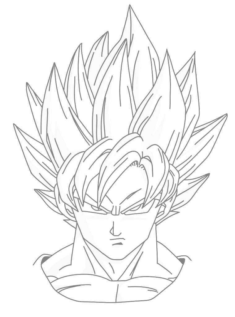 Dibujos De Dragon Ball Z Con Goku Para Imprimir Dibujos Faciles De Goku Dibujo De Goku Dibujos