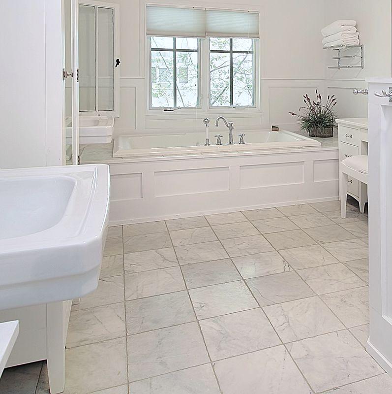 Bianco Carrara 12x12 Polished Marble Tile Bathroom Interior Bathroom Remodel Master Bathroom Renovations