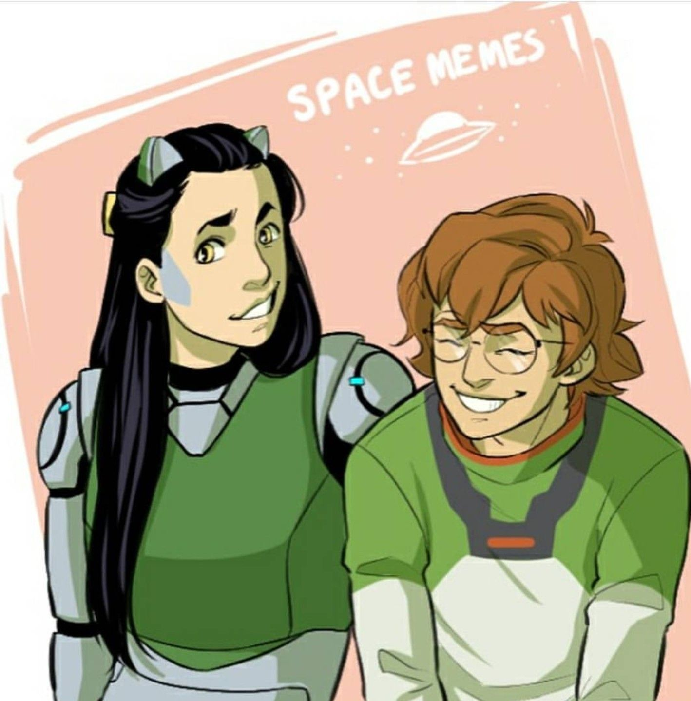 Pidge And The Green Lion In Its Human Form