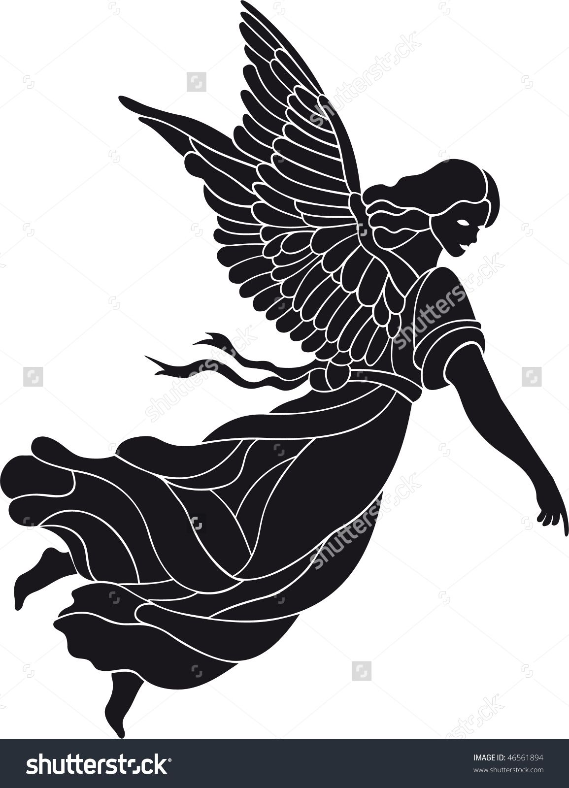 Angel vector Desenhos para pintura, Ilustração, Desenhos